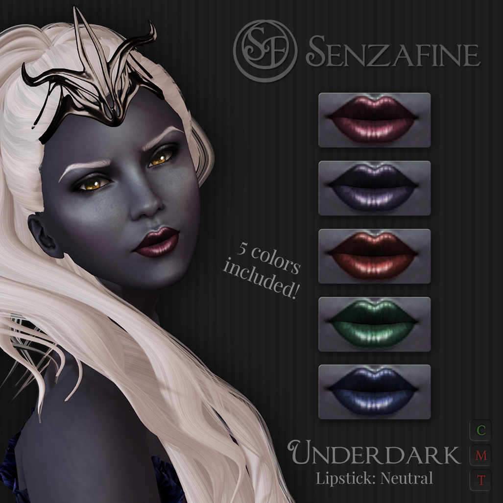 """Underdark"" Lipstick: Neutral Pack Ad"