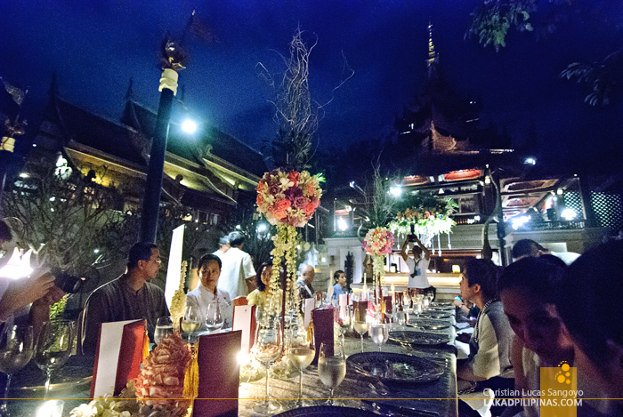 Outdoor Dining at Dhara Dhevi in Chiang Mai