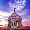 What you don't probably notice at first glance here is @carl was #caughtgramming up on top of that gorgeous monument. See him? #findcarl #gettysburg #pennsylvania #monument #sunset