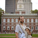Independence hall father and baby