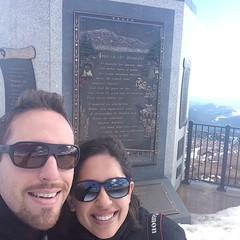 Oh you know. Just on top of Pikes peak. Only 14,114 ft tall. Yesterday was scary. #latergram #ohmygosh #socold