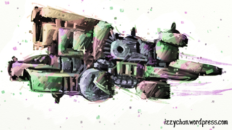 technicolor spaceship
