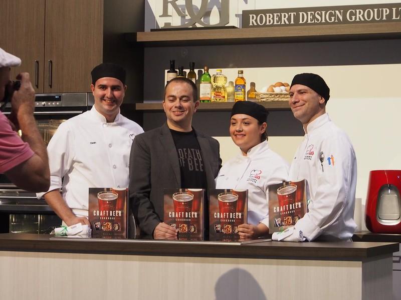 St. Piux X Culinary Team at Taste Canada Cooks The Books