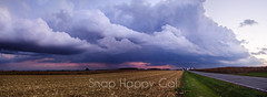 Fall Storm Front Over Farmland