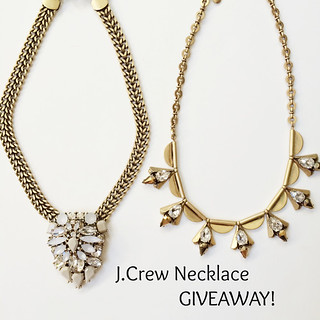 JCrew necklace, giveaway