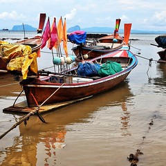 Sea Gypsy long tail fishing boats in the waters near Koh Lanta, Thailand. #travel #thailand #travelphotography #nofilter #photooftheday #travelpick