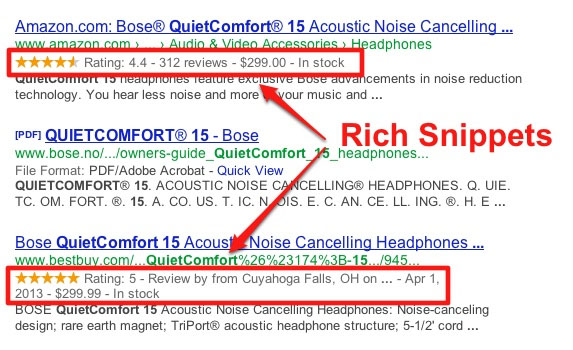 Rich Snippets for Product Reviews