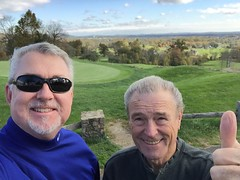 Ray and I at hole 2 at Stoneleigh