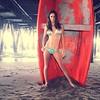 Life raft under the #santamonica pier #kaloopy #boat #bikini #ocean