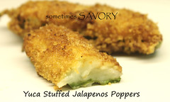 Yuca Stuffed Jalapeno Poppers