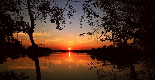 trees sunset red canon river landscape scenery bloody drohiczyn cesarz marcelxyz