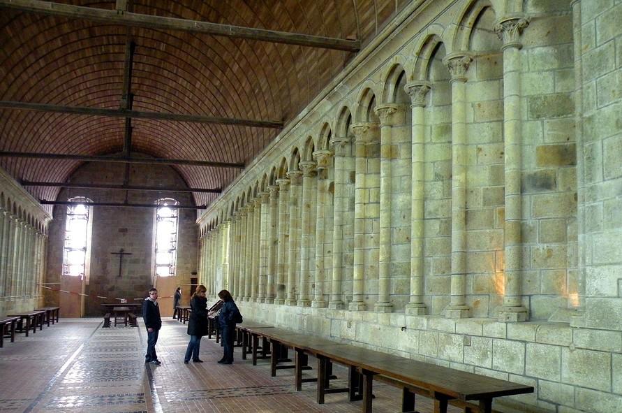 Mont Saint-Michel - le réfectoire