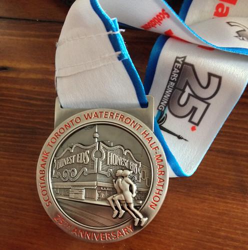 STWM half marathon finisher's medal