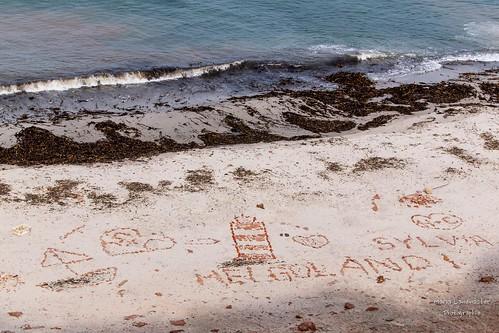 Am Strand von Helgoland