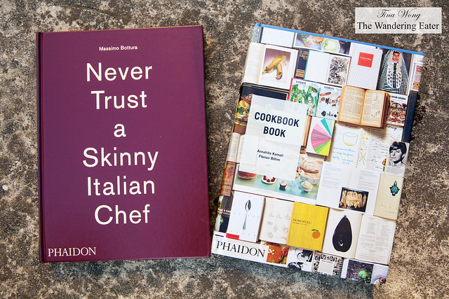 Cookbooks from Phaidon - Never Trust a Skinny Italian Chef by Massimo Bottura and Cookbook Book by Florian Böhm and Annahita Kamali