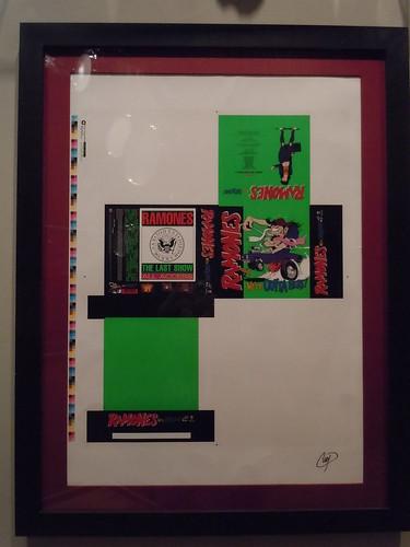 10/03/14 Hard Rock Cafe @ Mall of America, Bloomington, MN (Ramones Artwork Sheet)