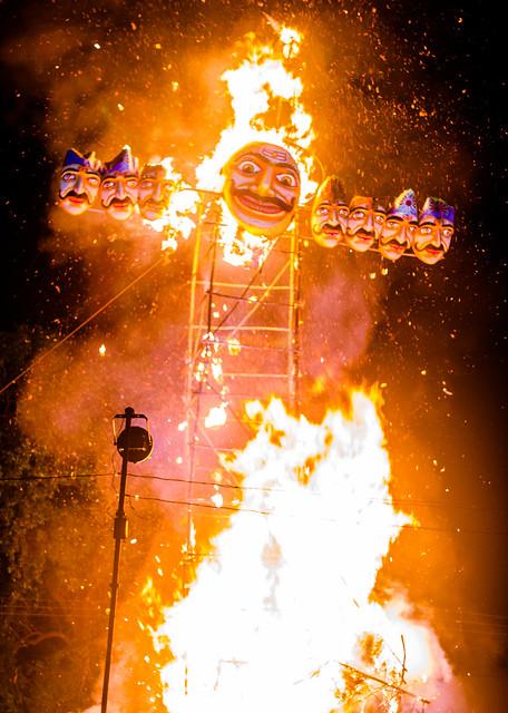 Dussehra - The Burning of Ravan