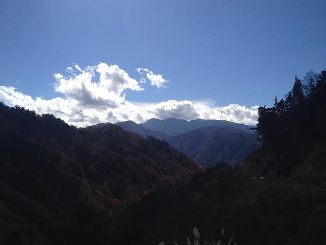 白山スーパー林道 とがの木台展望台から白山