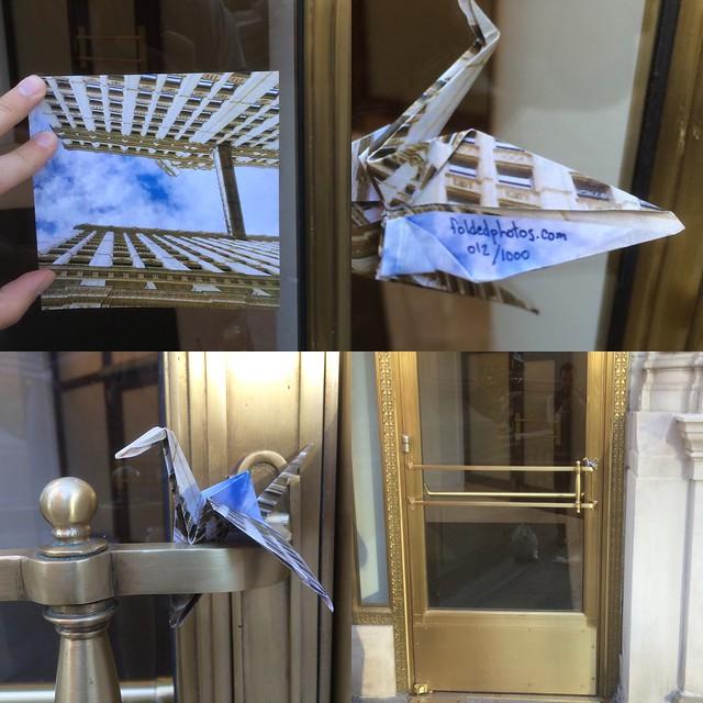 Crane on door #012 / 1000 #foldedphotos