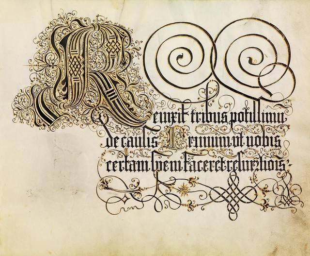 FJ Brechtel calligraphy 16th cent. c