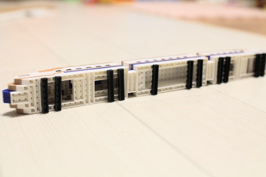 ナノブロックトレインコレクション_E7系新幹線完成5