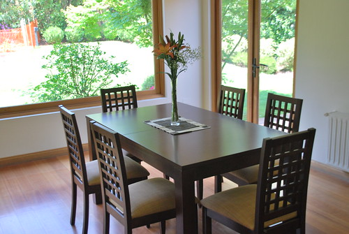 Rental Dining Table Wood with 6 Chairs