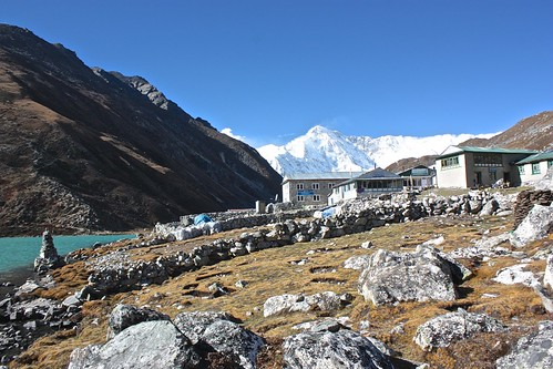not a cloud in the sky over Gokyo