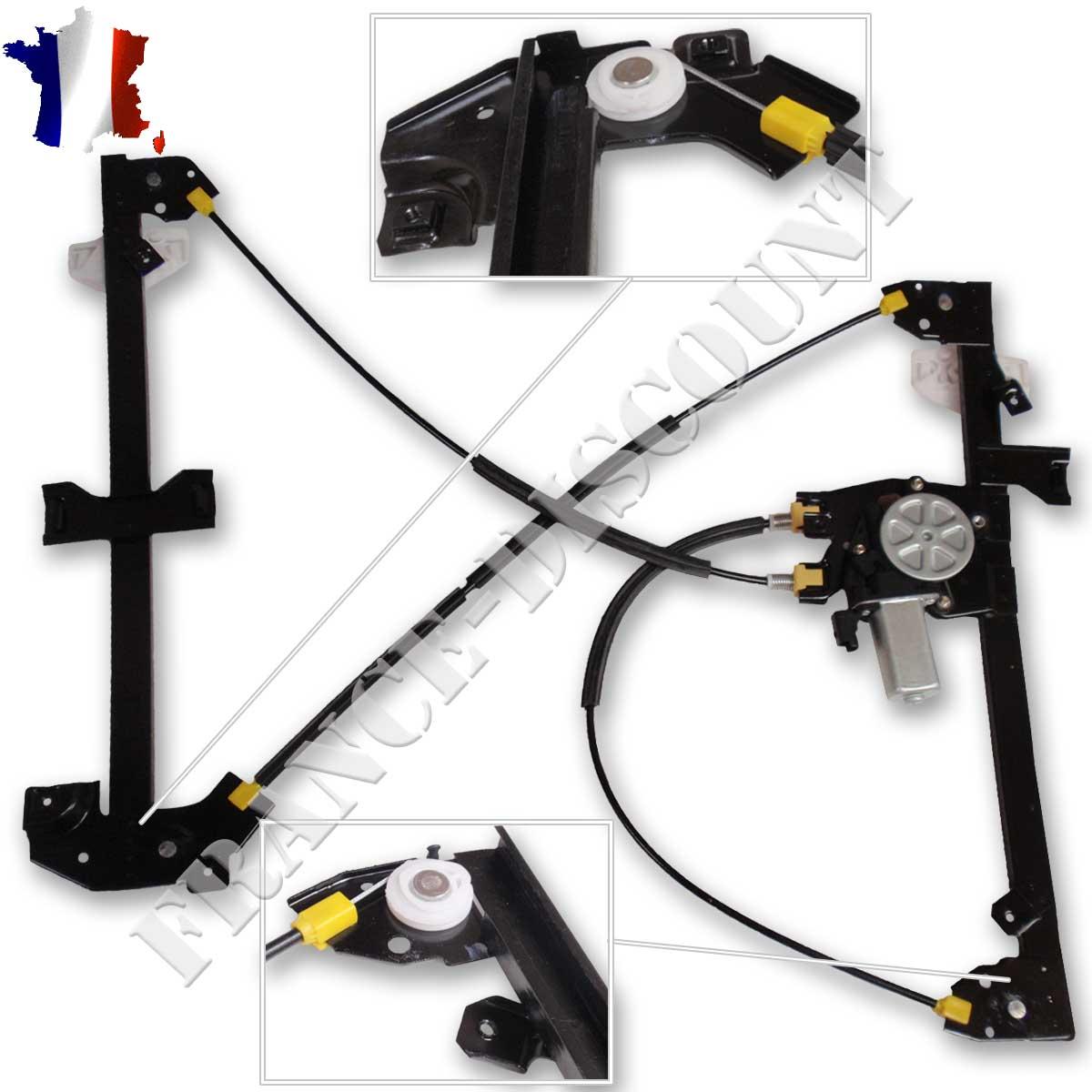 mecanisme leve vitre electrique avant gauche neuf peugeot partner avec moteur. Black Bedroom Furniture Sets. Home Design Ideas