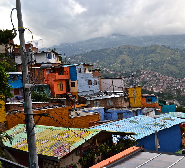 painted rooftops of comuna 13, medellin