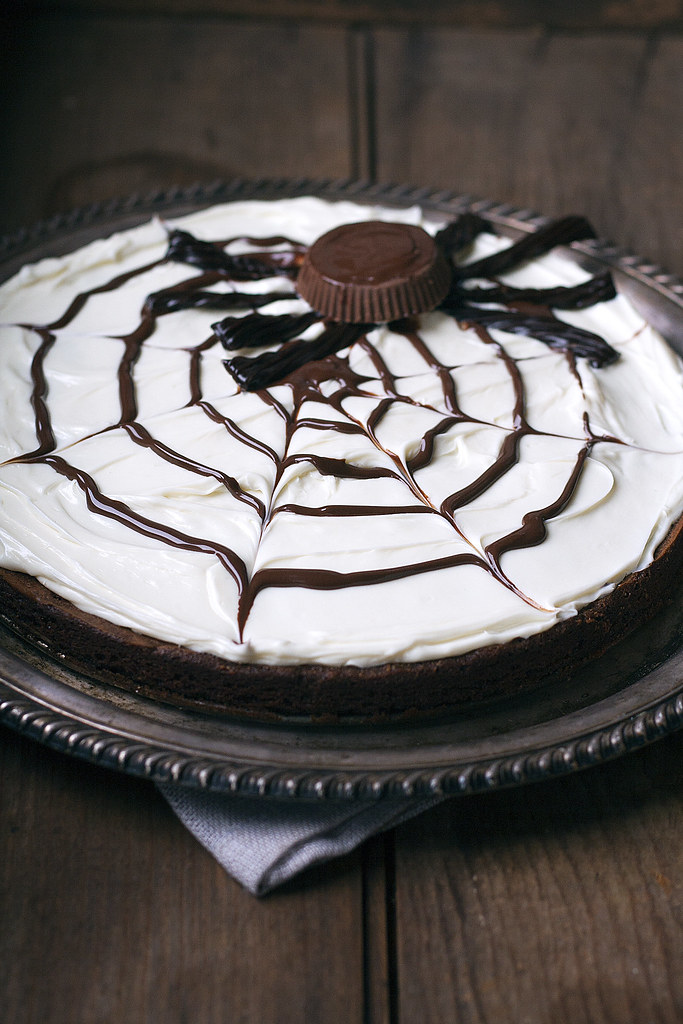 spider web brownie for Halloween