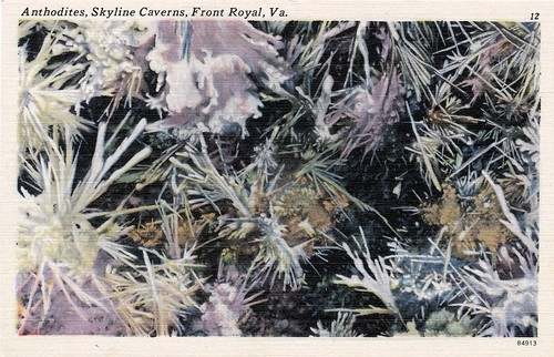virginia caves va geology skylinecaverns anthodites caveflowers postcardoftheday