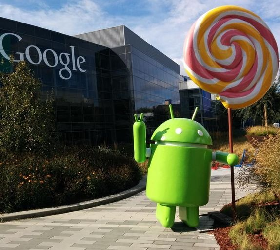 статуя Android 5.0 Lollipop