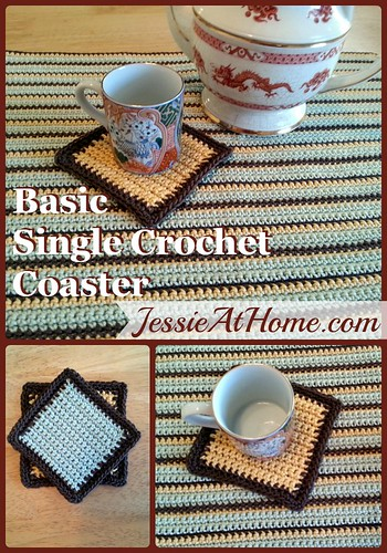 Basic Single Crochet Coaster Pattern