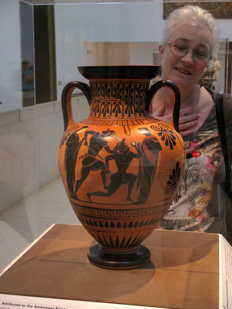Black Figure Amphora Depicting Theseus And The Minotaur
