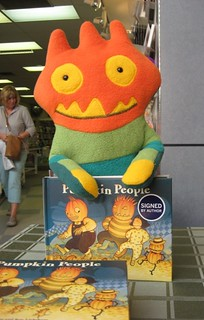 Spike the pumpkin person at Coles