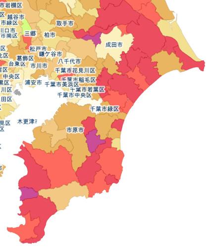 日本人口減少地図