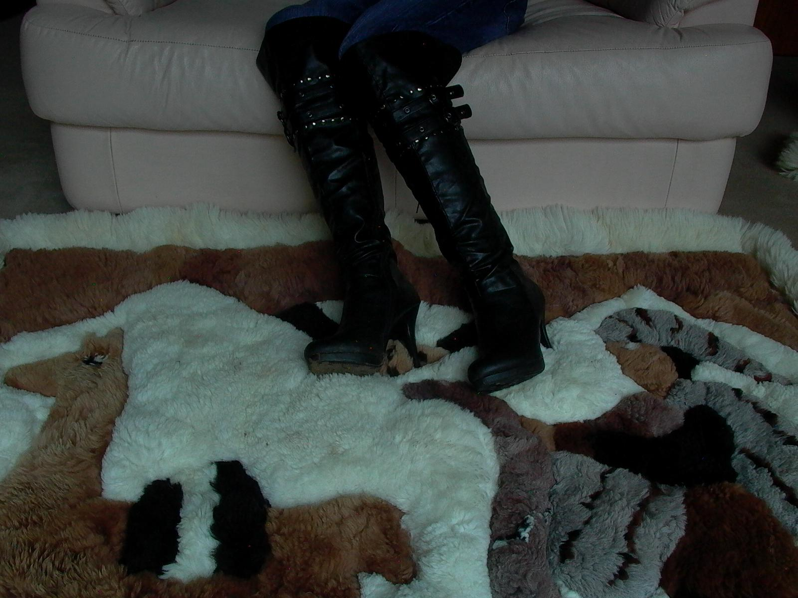 Dirty Stiletto Platform Boots On Alpaca Rug Flickr