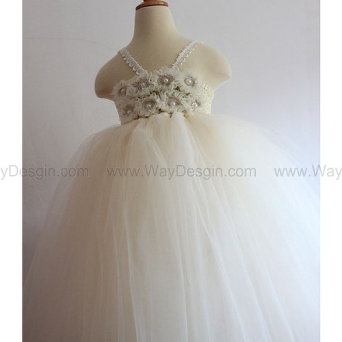 Ivory Flower Girl Dress tutu dress baby dress toddler birthday dress
