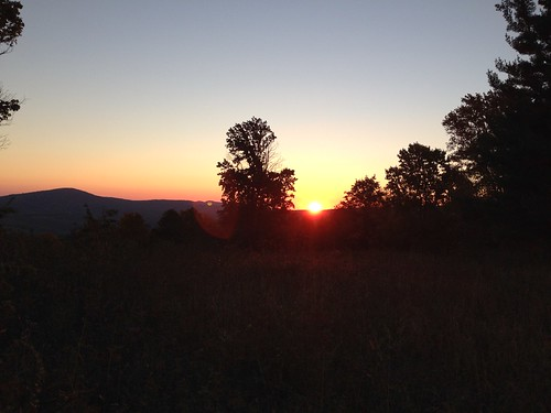 Sunrise on skyline drive