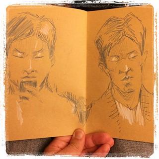 #japon #tokyo #metro #portraits #colerase #kraft
