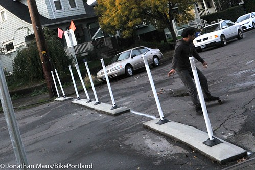 New traffic diverter at Rodney and Ivy-1