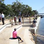 Glebe foreshore walkway launch