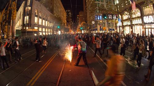 San Francisco Giants Fans Celebrating World Series Win 2014