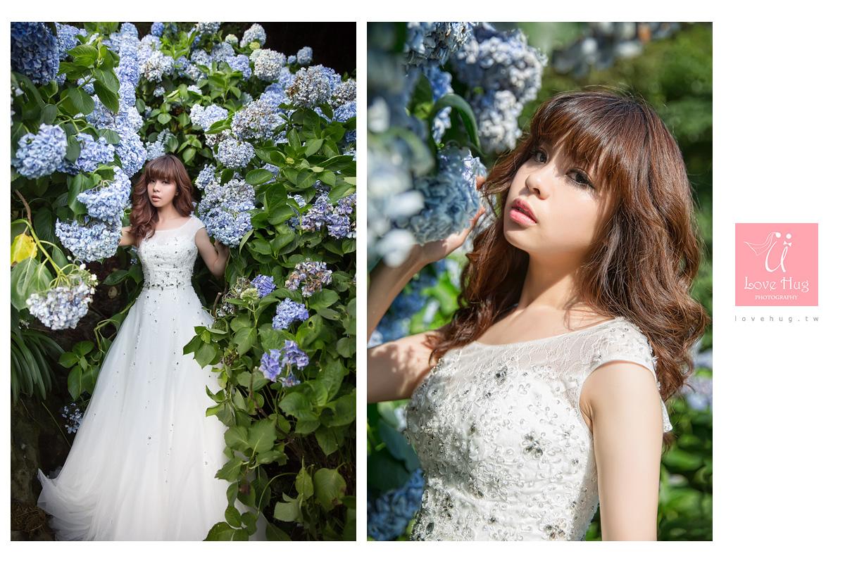 婚攝Benson,自助婚紗,婚紗寫真,陽明山水車寮,繡球花