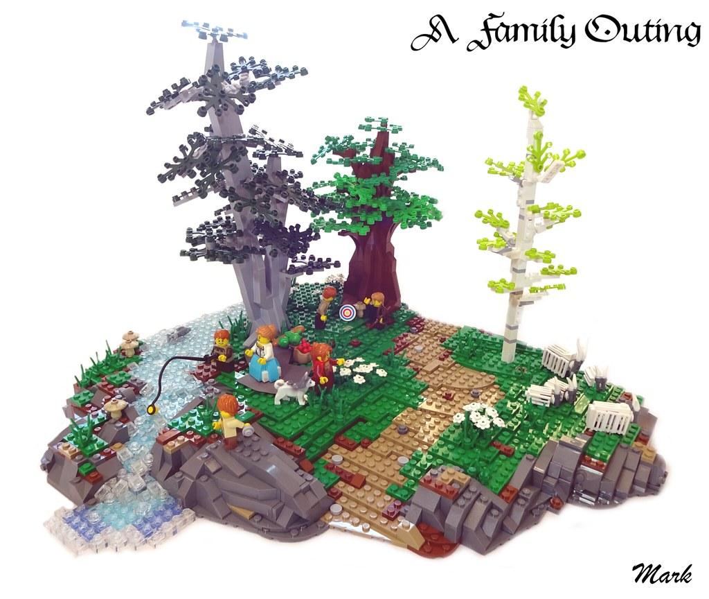 A Family Outing (custom built Lego model)