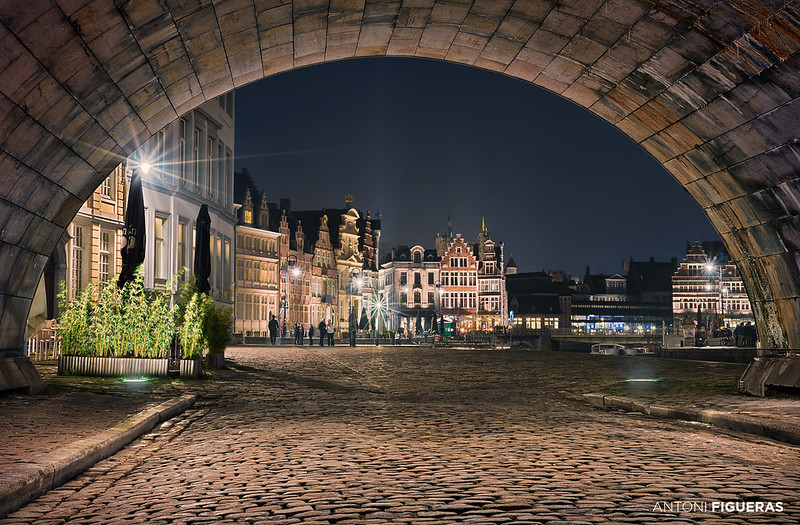 Ghent, under the bridge
