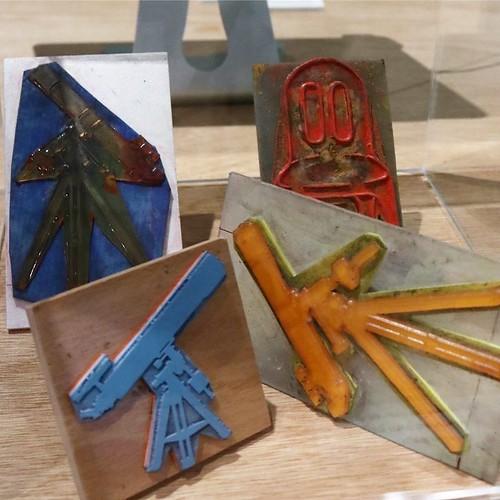 作品に使われた、ゴム印。 #森美術館 #nsハルシャ展