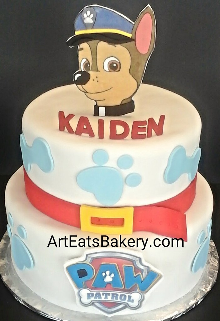 Two Tier Paw Patrol Boys Custom Creative Birthday Cake With Edible