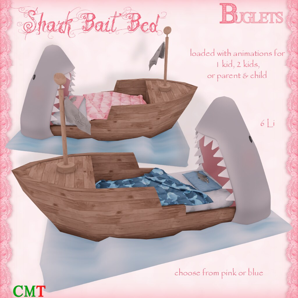 Shark Bait Bed AD - SecondLifeHub.com