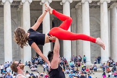 Aerobics at Jefferson Memorial